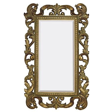 Majestic Mirror Large Rectangular Traditional Antique Bronze Beveled Glass Wall Mirror