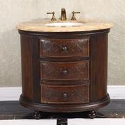 InFurniture 36'' Single Bathroom Vanity Set; Wood Vein