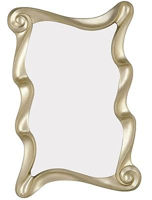 Majestic Mirror Stylish Irregular Shaped Modern Antique Silver Framed Wall Mirror WYF078277339451