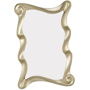 Majestic Mirror Stylish Irregular Shaped Modern Antique Silver Framed Wall Mirror
