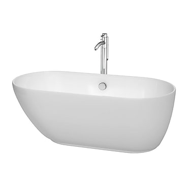 Wyndham Collection Melissa 60'' H x 29'' Soaking Bathtub; Polished Chrome