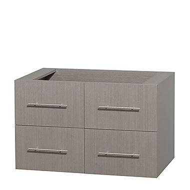 Wyndham Collection Centra 36'' Single Bathroom Vanity Base; Gray Oak