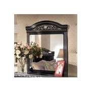 Wildon Home   Park Mirror in Deep Glossy Black