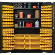Quantum 78'' H x 48'' W x 24'' D Welded Storage Cabinet; Black