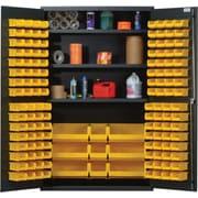 Quantum 78'' H x 48'' W x 24'' D Welded Storage Cabinet; Black