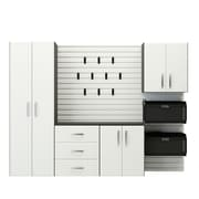Flow Wall 6' H x 8' W x 1.5' D 5 Piece Storage Cabinet Starter Set; White