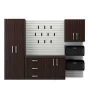 Flow Wall 6' H x 8' W x 1.5' D 5 Piece Storage Cabinet Starter Set; Espresso