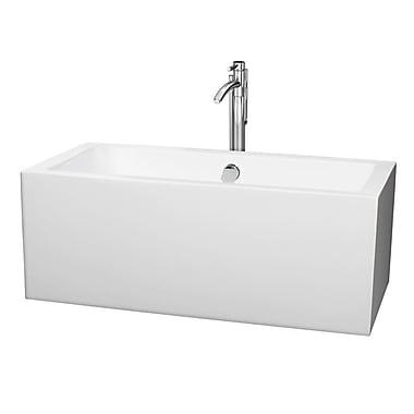 Wyndham Collection Melody 59.5'' x 29.5'' Soaking Bathtub; Chrome