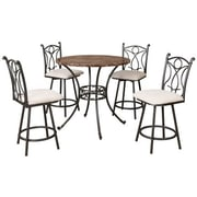 Hazelwood Home 5 Piece Pub Table Set