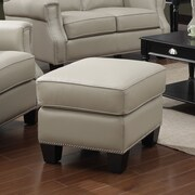 At Home Designs Uptown Leather Ottoman