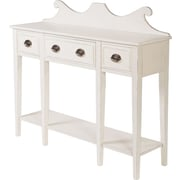 HeatherBrooke Console Table; Antiqued White