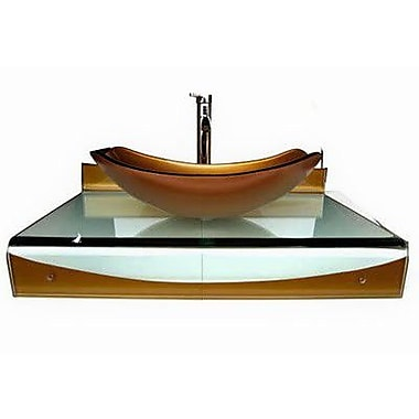 Kokols 31'' Single Floating Bathroom Vessel Vanity Set
