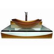 Kokols 31'' Single Floating Bathroom Vessel Vanity Set