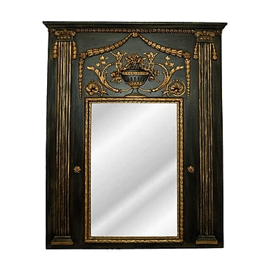 Hickory Manor House Fontaine Trumeau Mirror; Old Black Gold