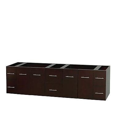 Wyndham Collection Centra 80'' Double Bathroom Vanity Base; Espresso