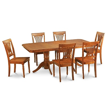 East West Napoleon 7 Piece Dining Set; Non-Upholstered Wood