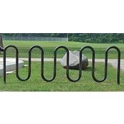 Highland Products 11 Bike Wave Freestanding Bike Rack; Black by