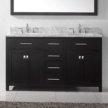 Virtu USA Caroline Estate 72'' Bathroom Vanity Cabinet; Espresso
