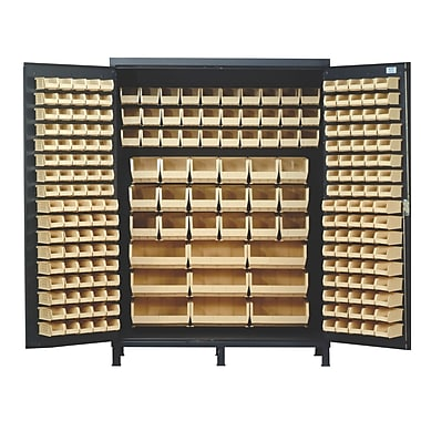 Quantum 84'' H x 60'' W x 24'' D Super Wide Heavy Duty Storage Cabinet; Yellow