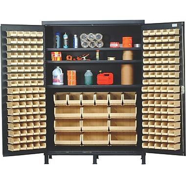 Quantum 84'' H x 60'' W x 24'' D Super Wide Heavy Duty Storage Cabinet; Green
