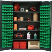 Quantum 78'' H x 48'' W x 24'' D Welded Storage Cabinet; Green