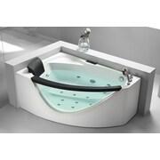 EAGO 59'' x 39'' Corner Whirlpool Bathtub; Right