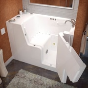Therapeutic Tubs Mohave 53'' x 29'' Air & Whirlpool Jetted Wheelchair Accessible Bathtub; Right