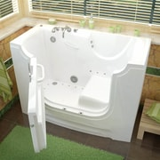 Therapeutic Tubs HandiTub 60'' x 30'' Air/Whirlpool Jetted Wheelchair Accessible Bathtub; Left