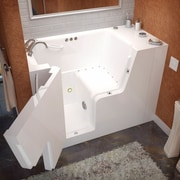 Therapeutic Tubs Mohave 53'' x 29'' Air & Whirlpool Jetted Wheelchair Accessible Bathtub; Left