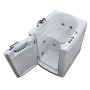 Therapeutic Tubs Durango 32'' x 37.2'' Whirlpool & Air Jetted Bathtub; Left