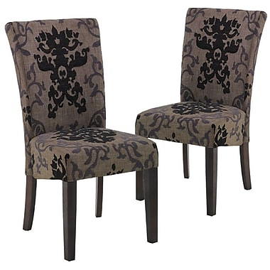 Armen Living Urbanity Montecito Parsons Chair (Set of 2); Fabric - Toffee