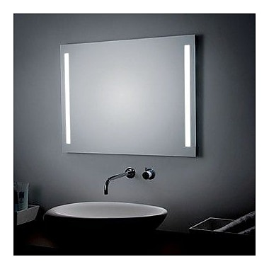WS Bath Collections LED Lighted Wall Bathroom Mirror; 27.6'' H x 35.4'' W x 0.5'' D