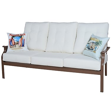 Panama Jack Island Breeze Deep Seating Sofa w/ Cushions; Air Blue
