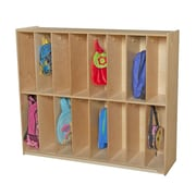 Wood Designs 2 Tier 8 Wide Coat Locker