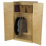 Wood Designs Teacher's 2 Compartment Classroom Cabinet w/ Casters