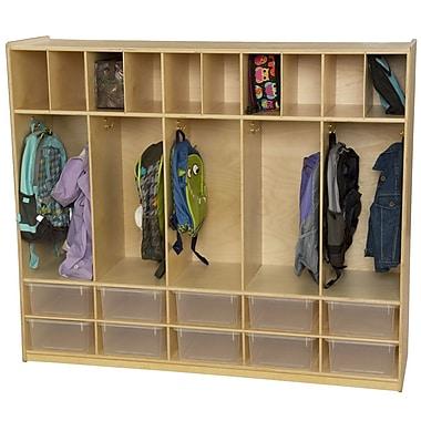 Wood Designs 4 Tier 5 Wide Coat Locker