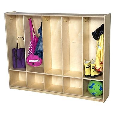 Wood Designs 2 Tier 5 Wide Coat Locker