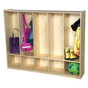 Wood Designs 2 Tier 5 Wide Coat Locker