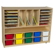 Wood Designs Multi-Storage 26 Compartment Cubby w/ Casters