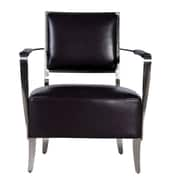 Bellini Modern Living Oscar Leather Chair; Black