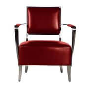 Bellini Modern Living Oscar Leather Chair; Red