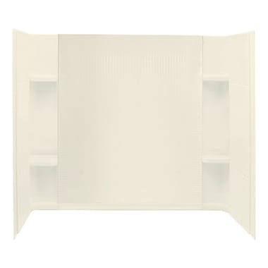Sterling by Kohler Accord 3-Piece 31.25'' x 60'' x 56.25'' Wall Set; Biscuit