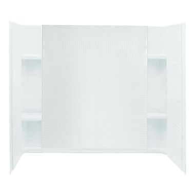 Sterling by Kohler Accord 3-Piece 32'' x 60'' x 55.25'' Wall Set w/ Age-In-Place Backers; White