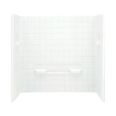 Sterling by Kohler All Pro 3-Piece 31.5'' x 60'' x 59'' Wall Set; White