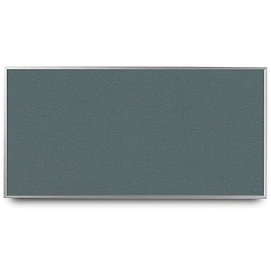 Everwhite Narrow Aluminum Framed Cork Bulletin Board; 4' H x 12' W