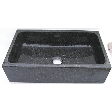 Quiescence Farm Charm 33'' x 19'' Single Bowl Farmhouse Granite Kitchen Sink; Uba Tuba