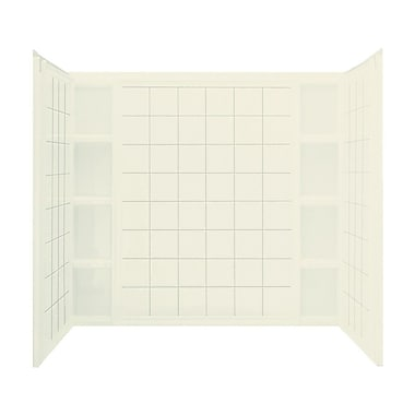 Sterling by Kohler Ensemble 3-Piee 43.5'' x 60'' x 54.25'' AFD Wall Set; Biscuit