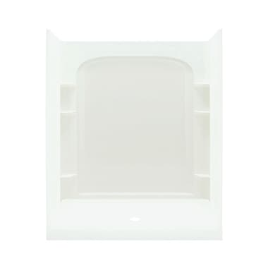 Sterling by Kohler Ensemble 1-Piece 60'' x 67'' Back Wall w/ Age-in-Place Backers; White