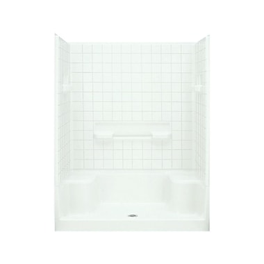 Sterling by Kohler Advantage Tile Seated Shower Kit; White