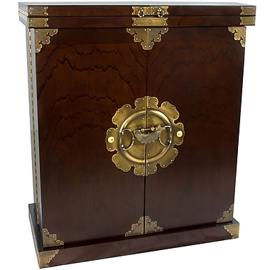 Oriental Furniture Korean Bar Cabinet w/ Wine Storage